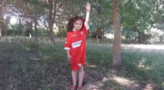 Minik taraftarın Samsunspor aşkı