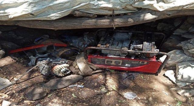 Pençe-Kaplan Operasyonu'nda PKK'ya ait mühimmat ve malzemeler ele geçirildi
