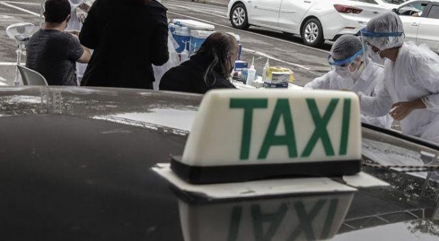 Sao Paulo'da taksi şoförleri hızlı test kitleriyle kontrol ediliyor