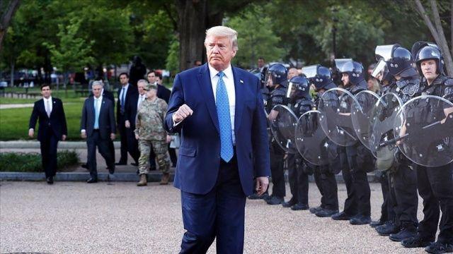 Trump, Floyd gösterilerinde Beyaz Saray'daki sığınağa 'teftiş amacıyla' gittiğini söyledi
