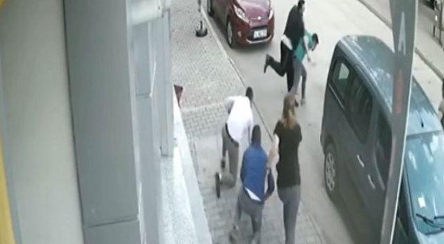'Namusuma yan baktın' diyerek tekme tokat dövdüler!