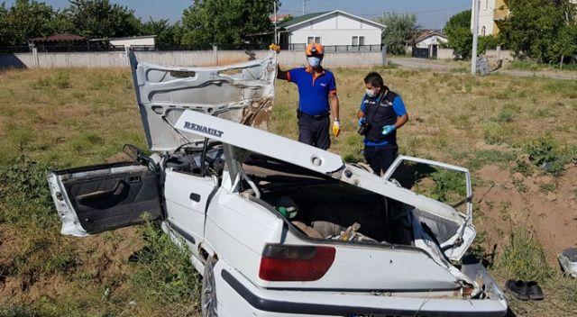 Aksaray'da düğün dönüşü kaza: 1 ölü, 4 yaralı
