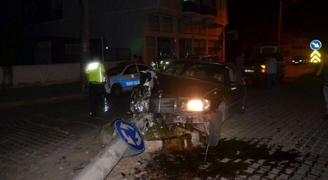 Alkollü sürücü polisten kaçtı, kaza yaptı