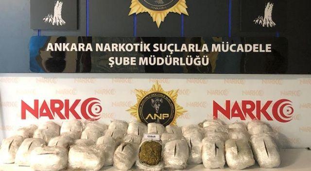 Ankara narkotiği 152 kilo esrar ve 20 kilo eroin ele geçirdi