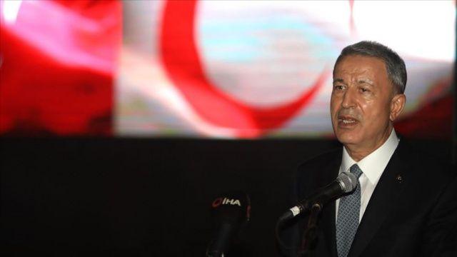 Bakan Akar: Türkiye'nin deniz yetki alanlarında inceleme yapmak, istifade etmek hakkımız