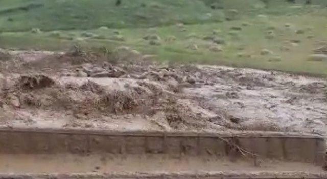 Bingöl'de yağmur ve dolu bir köyde ekine zarar verdi, bazı evleri su bastı