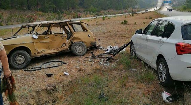 Dalaman'da feci kaza: 2 ölü, 1 yaralı
