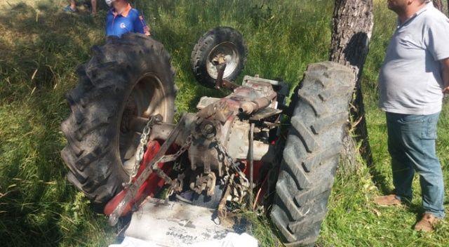 Dereye uçan traktörün sürücüsü öldü