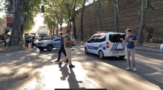 Dolmabahçe'de hareketli dakikalar: Şüpheli kadın gözaltına alındı