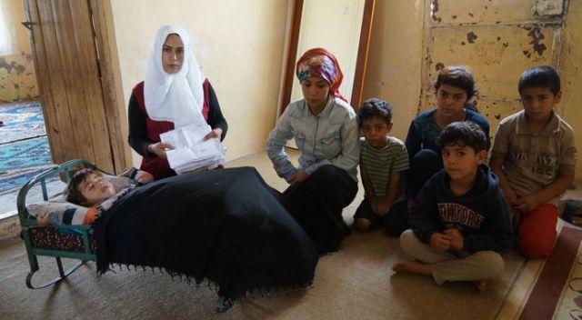 Eşi çalışamayan 7 çocuk annesi, hayat mücadelesi veriyor