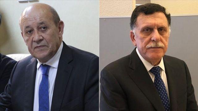 Fransa Dışişleri Bakanı, Libya Başbakanı ile telefonda görüştü