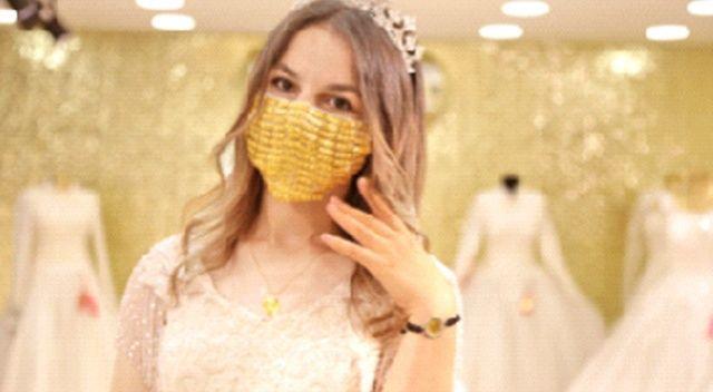 Gelinlere özel altından maske