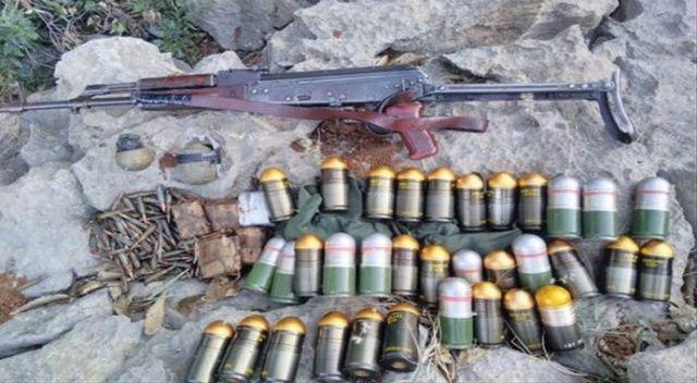 MSB: 'PKK'lı teröristlere ait çok sayıda silah ve mühimmat ele geçirildi'
