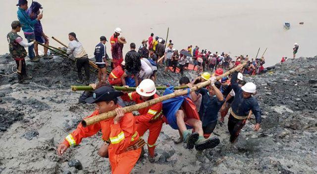 Myanmar'da meydana gelen heyelanda ölenlerin sayısı 113'e yükseldi