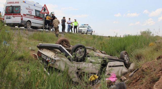 Şarampole yuvarlanan araç hurdaya döndü: 5 yaralı