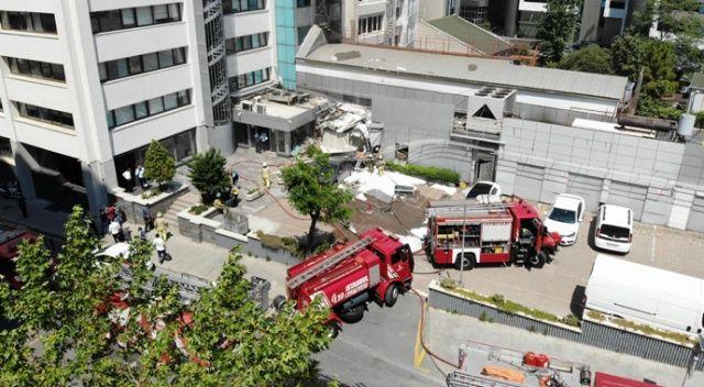 Şişli'de bir iş merkezinde patlama meydana geldi