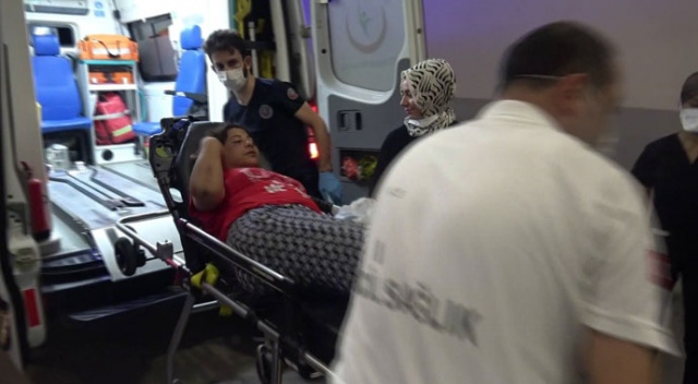 Yanındaki kadını önce darp etti sonra seyir halindeki araçtan attı
