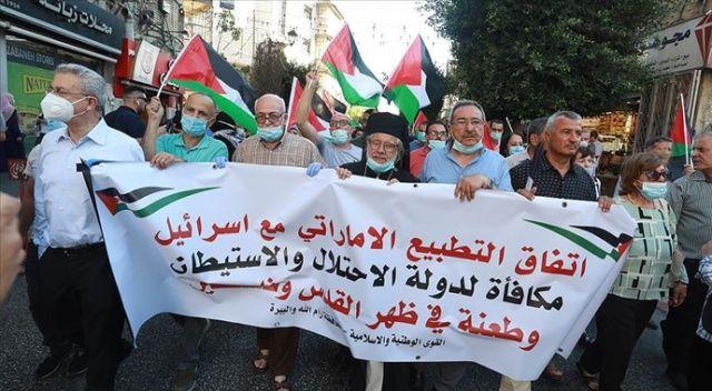 Batı Şeria'da İsrail-BAE anlaşması protesto edildi