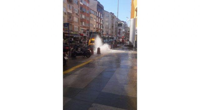 Beşiktaş'ta su borusu volkan gibi patlattı