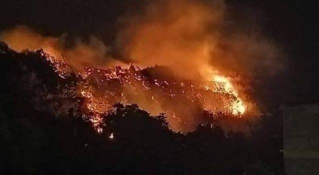 Hatay Samandağ'da korkutan yangın