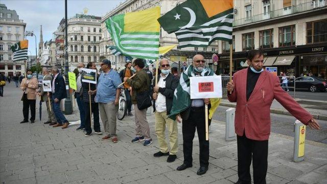 Hindistan'ın Cammu Keşmir'deki uygulamaları Avusturya'da protesto edildi