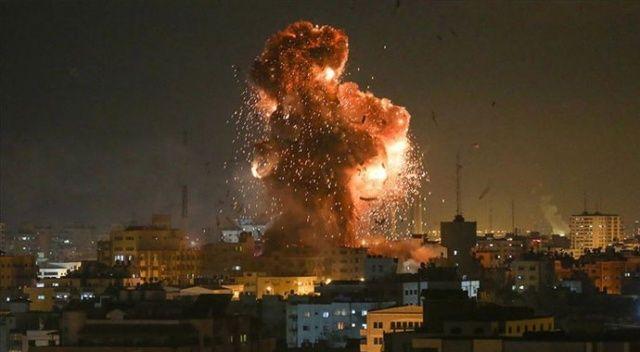 İşgalci İsrail'den Gazze'ye hava saldırısı