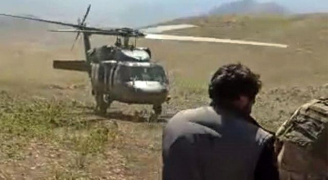 Kalp krizi geçiren çoban, askeri helikopterle hastaneye yetiştirildi