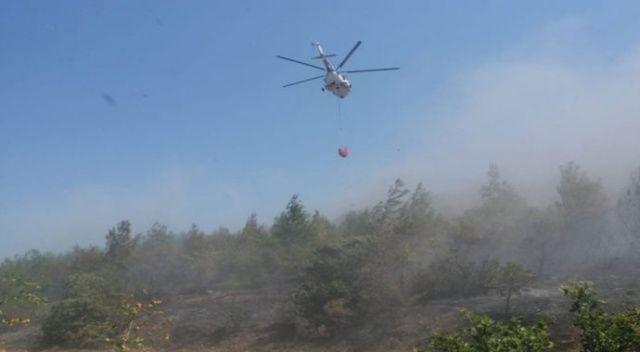 Kırkağaç'taki orman yangını söndürüldü