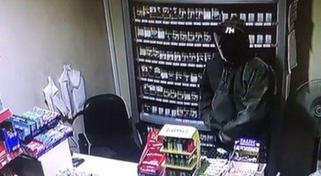 Maskeli hırsız benzin istasyonunu soydu