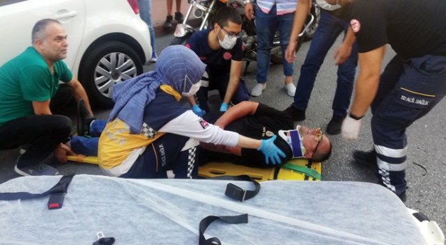 Motosiklet otomobile çarptı: 1 yaralı