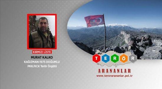 PKK'nın sözde Hakurk sorumlusu Murat Kalko, etkisiz hale getirildi