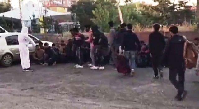 87 düzensiz kaçak göçmen yakalandı