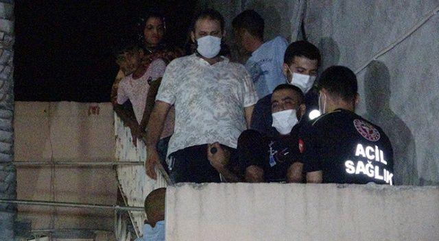 Ağabeyini bıçaklayan şahıs evlerin çatılarından atlayarak kaçtığı sırada düşüp yakalandı
