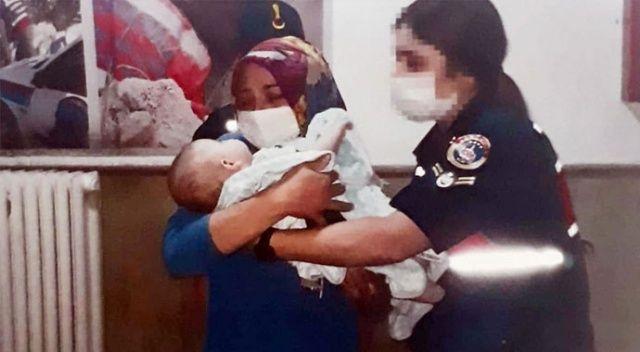 Eşinin kaçırdığı bebeğine 5 gün sonra kavuştu