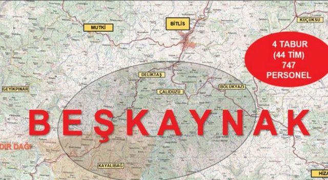 İçişleri Bakanlığınca Bitlis'te Yıldırım-12 Beşkaynak operasyonu başlatıldı