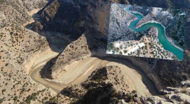 İnceğiz Kanyonu'nda sular kurudu