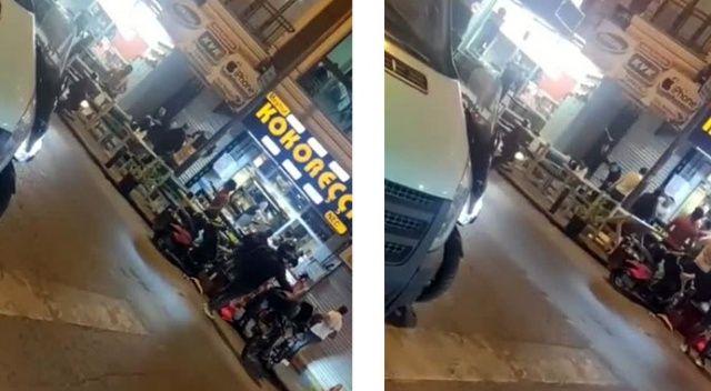 İstanbul'da döner bıçaklı, masalı ve sandalyeli kavga