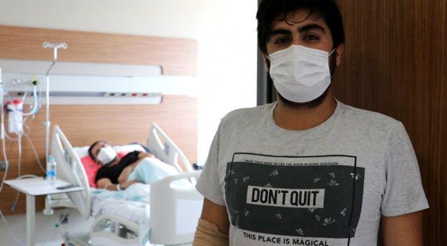Koronavirüse yakalanan baba ile oğul yan yana odalarda tedavi görüyor