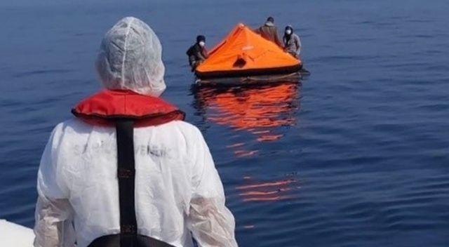 Ölüme terk edilen 19 düzensiz göçmen kurtarıldı