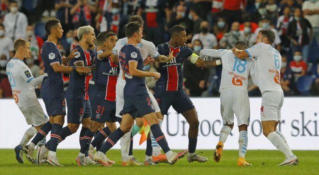 PSG-Marsilya maçında saha karıştı! 5 kırmızı, 14 sarı kart çıktı