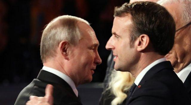 Putin ve Macron'dan telefon görüşmesi