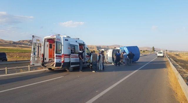 Sürücü araçtan fırladı, kazada 4 kişi yaralandı