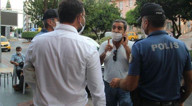Tüm ısrarlara rağmen maske takmamakta direnince 900 TL ceza kesildi
