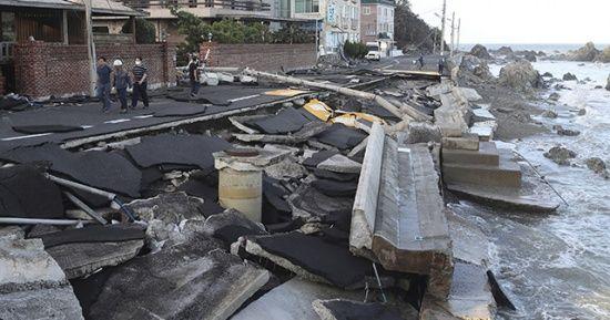Japonya'daki Haişen tayfununda 2 ölü, 100'den fazla yaralı var