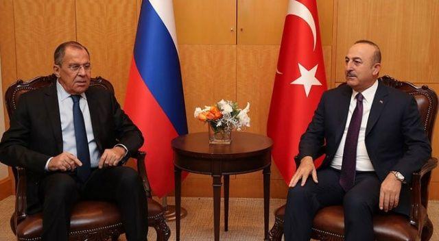 Bakan Çavuşoğlu, Lavrov ile görüştü