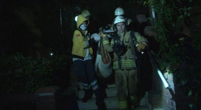 Beşiktaş'ta apartman yangını!