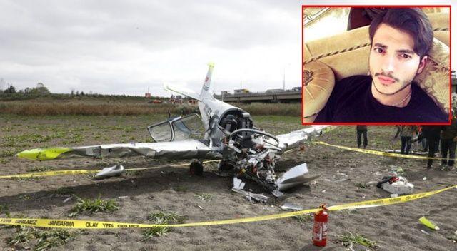 Büyükçekmece'de düşen uçağın genç pilotu hayatını kaybetti