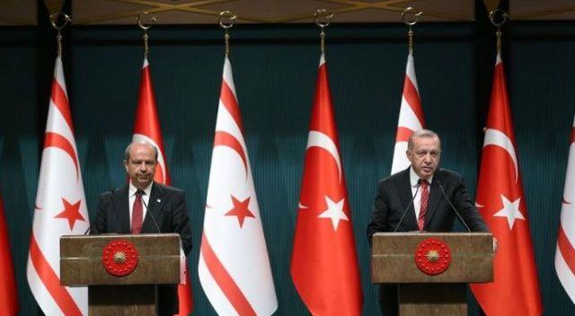 Cumhurbaşkanı Erdoğan ile Ersin Tatar'dan ortak açıklama