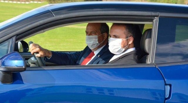 KKTC'nin yerli otomobili test sürüşünde:  Tatar hızlı başladı