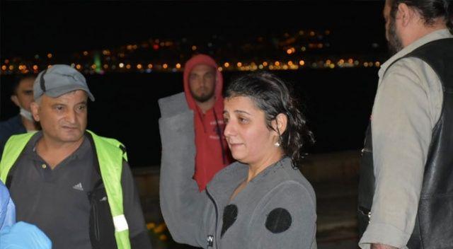 Denizde boğulma tehlikesi geçiren kadını polis zor kurtardı
